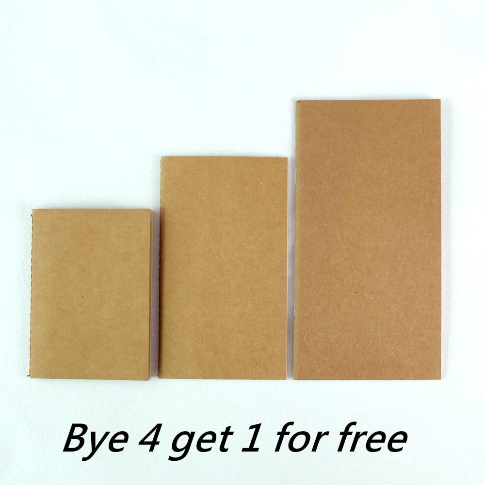 Recambio de cuaderno L/M/S de Traveler, 3 tamaños, 9 tipos de recambio, inserto estándar/portátil/tamaño pasaporte, diario de papel krart