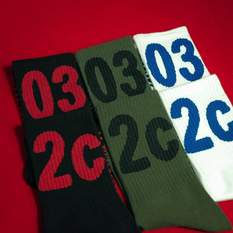 New Trend Socks 032c Personality Harajuku Style Lettering Socks Men and women Lovers Street Skate Casual Cotton Socks