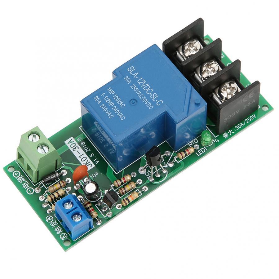 DC12V تأخير الموقت التبديل توقيت تشغيل/إيقاف وحدة التتابع 0 ~ 60 دقيقة 30A تحميل 250VAC/30VDC وحدة الموقت