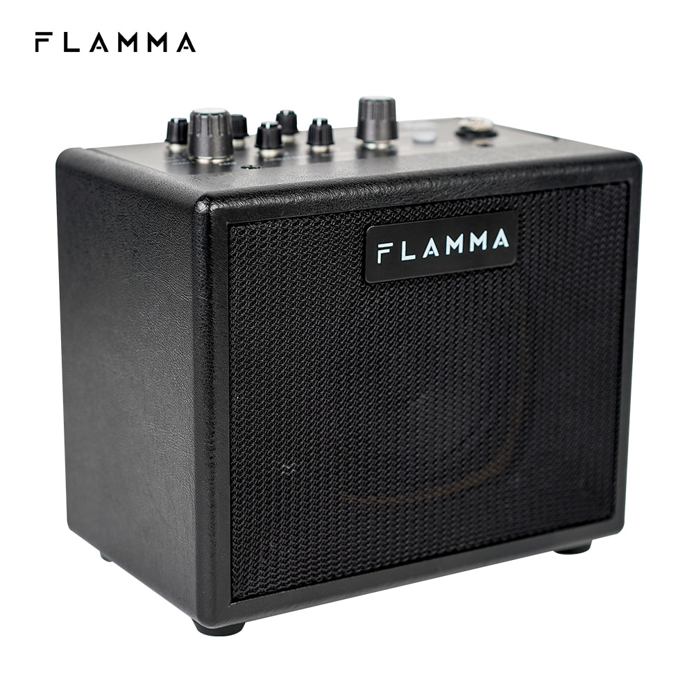 FLAMMA FA05 Electric Guitar Amplifier Amp Bluetooth Combo Amplifier Speaker Mini Portable with 7 Preamp Models 40 Drum Machine