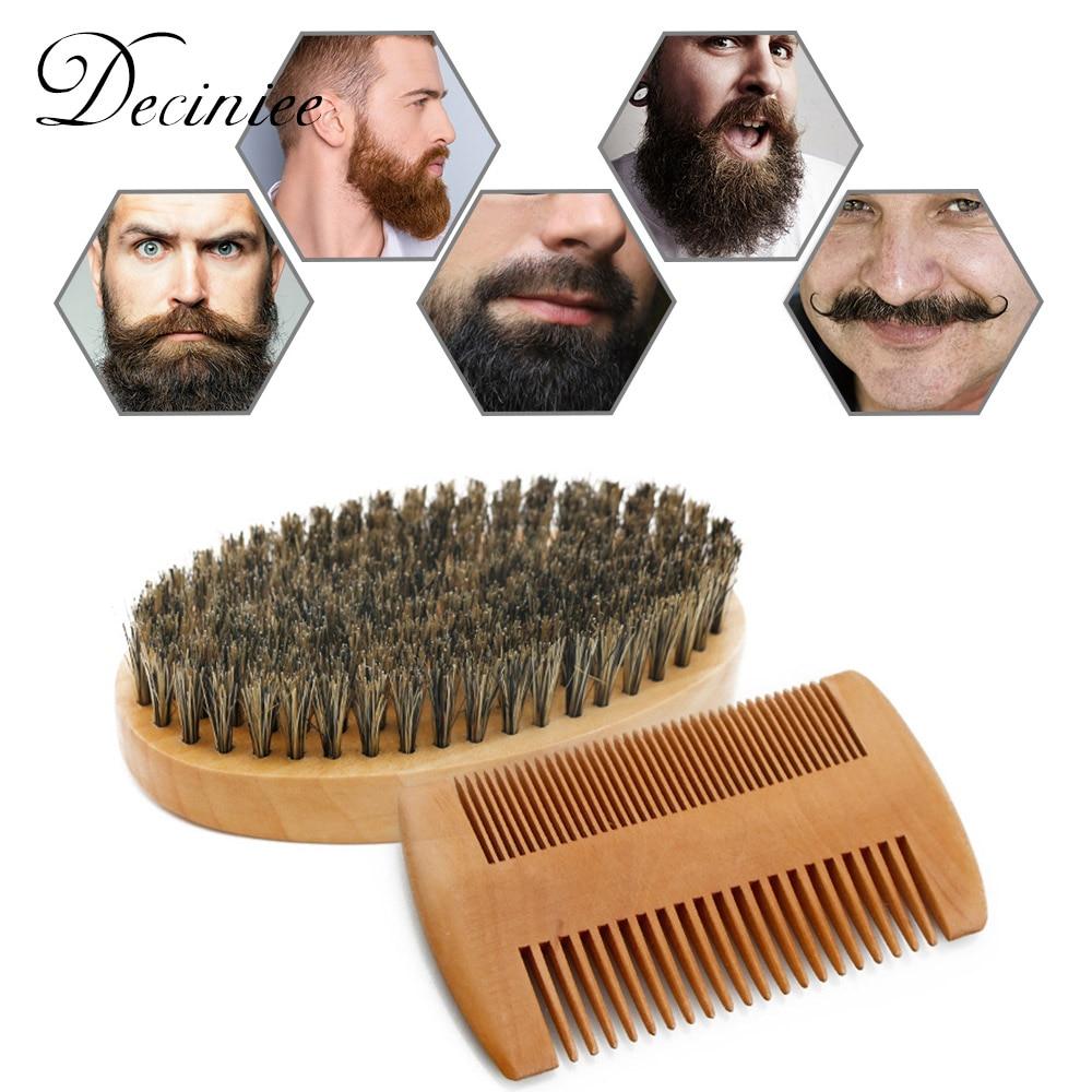 Beard Care Kit for Men Ultimate Beard Grooming Kit Wooden Beard Comb Beard Brush Kit Hairdresser Shaving Tool Men Mustache Comb недорого