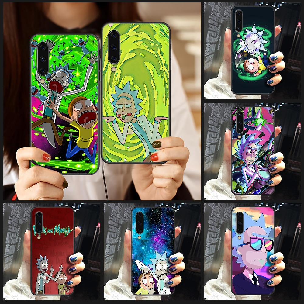 Rick Or Morty ANIME Phone Case Cover For Samsung Galaxy A10 A20 A30 E A40 A50 A51 A70 A71 J 5 6 7 8