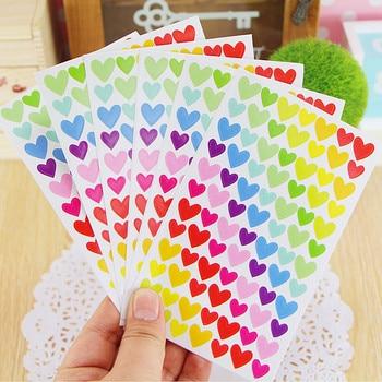 6 Sheets/lot Cute Kawaii Sticker For Photo Album Decoration Lovely Heart
