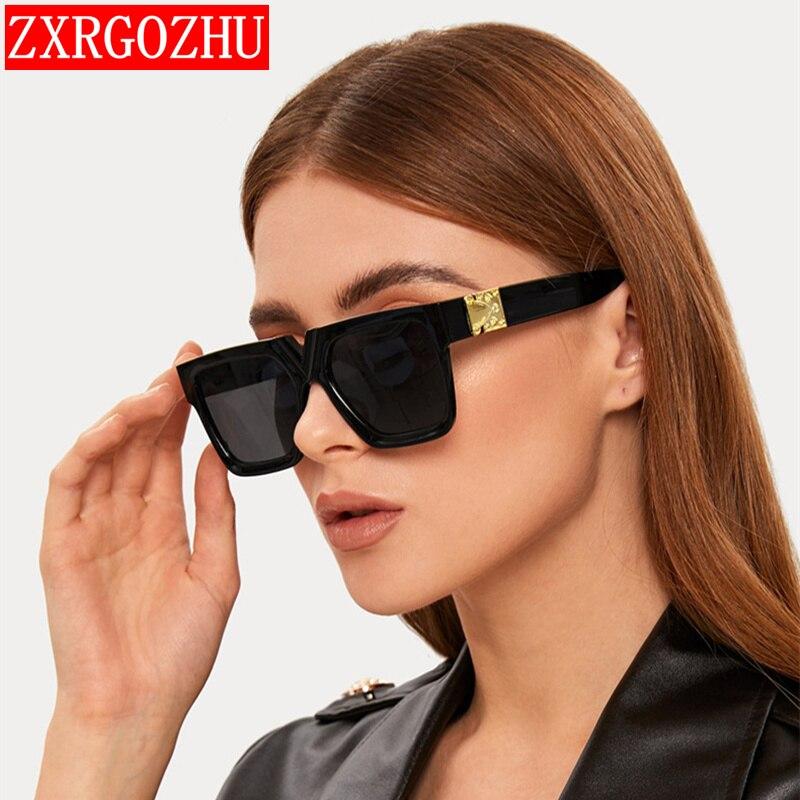 Oversized Women's Sunglasses 2021 Luxury Brand Vintage Glasses Women/Men Gradient Square Eyewear Wom