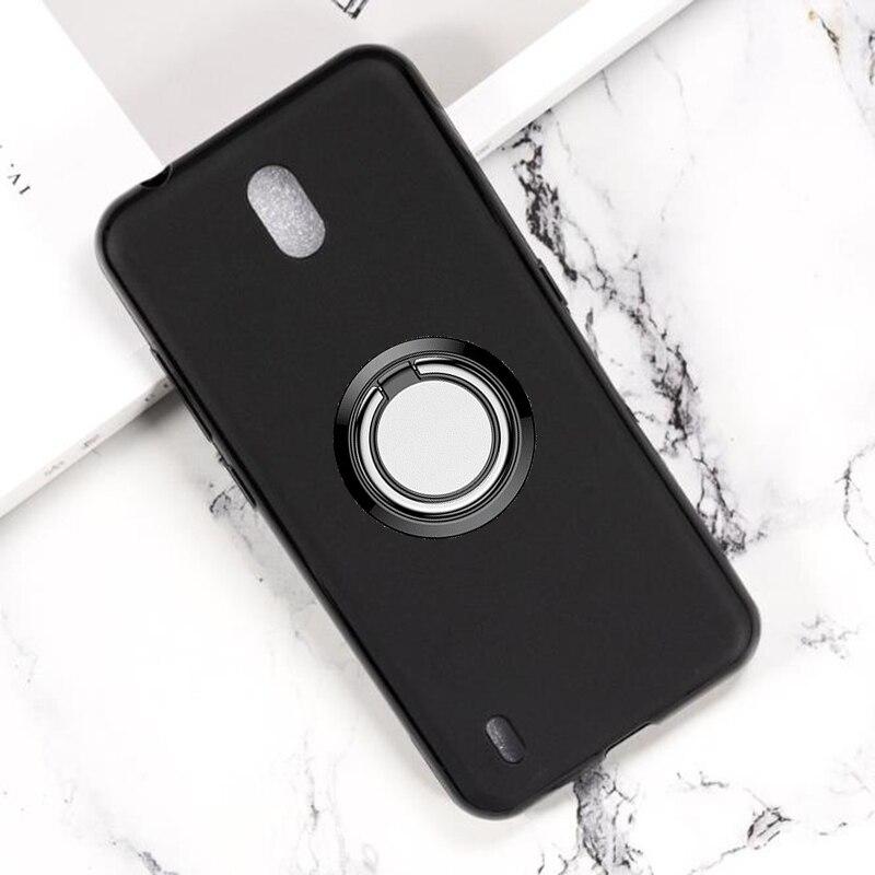 Soporte de anillo trasero para Nokia C2, funda de teléfono, fundas de silicona blanda TPU para Nokia C2 de 5,7 pulgadas