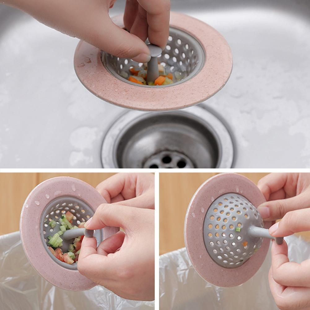 Sílice fregadero colador cocina Gadget fregadero colador de filtro red para baño fregadero Gadgets cocina de tapón filtro escurridor O0W3