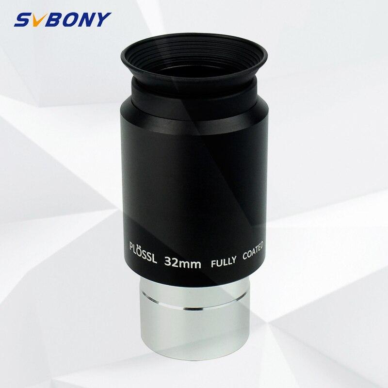 Oculaire de Plossl de 1.25 pouces 32mm svbone pour télescope Plossl à 4 éléments pour télescope dastronomie de 1.25 avec vue entièrement enduite W2192A