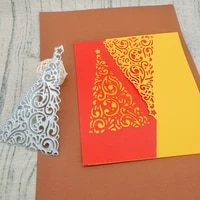 exquisite christmas tree shaped hollow pattern metal cutting mold scrapbook album decoration diy handmade art