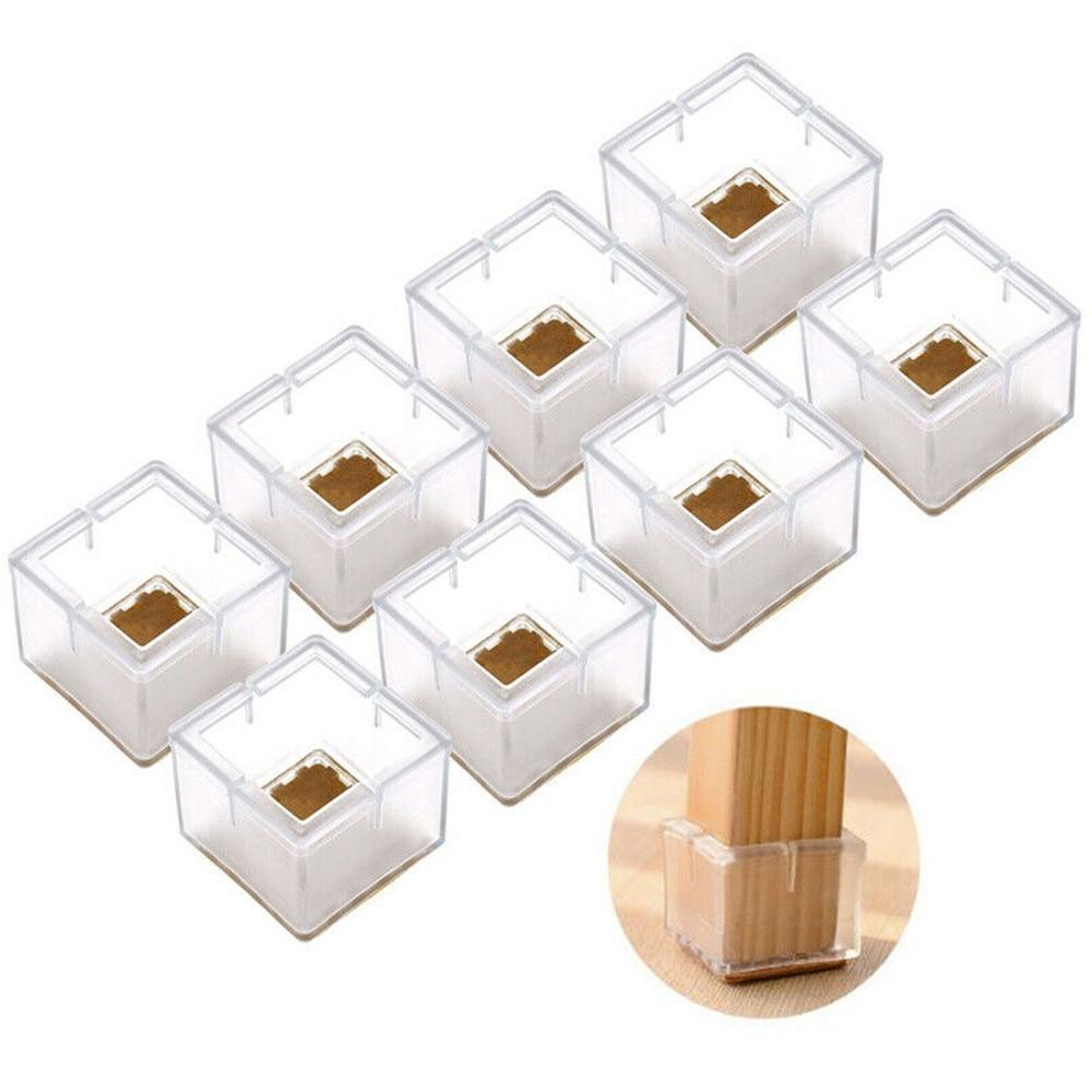 16 قطعة كرسي مربع الساق غطاء سيليكون قدم منصات مفارش طاولة الخشب الطابق حامي لحماية الأثاث الخاص بك والأرضية