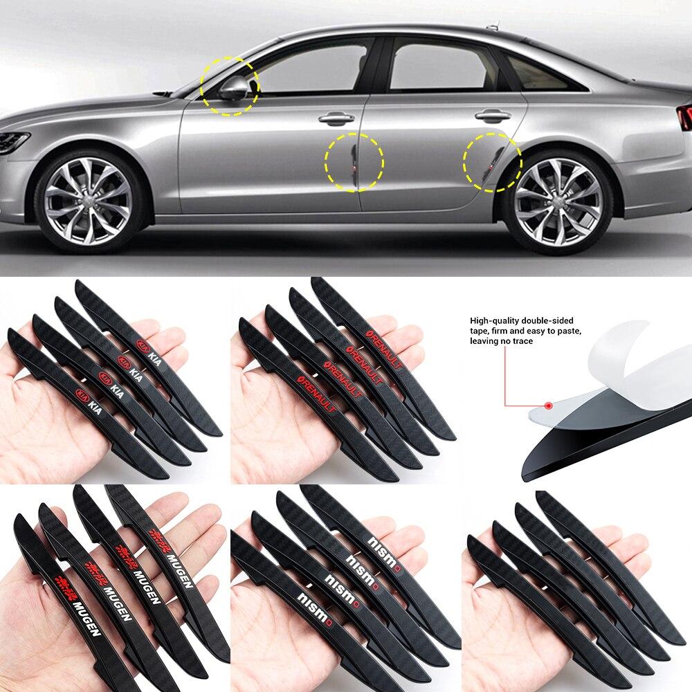 4 pçs porta lateral do carro borda protetor tira raspe guarda pára-choques guardas lidar com capa 3d adesivos para toyota land rover suzuki nissan