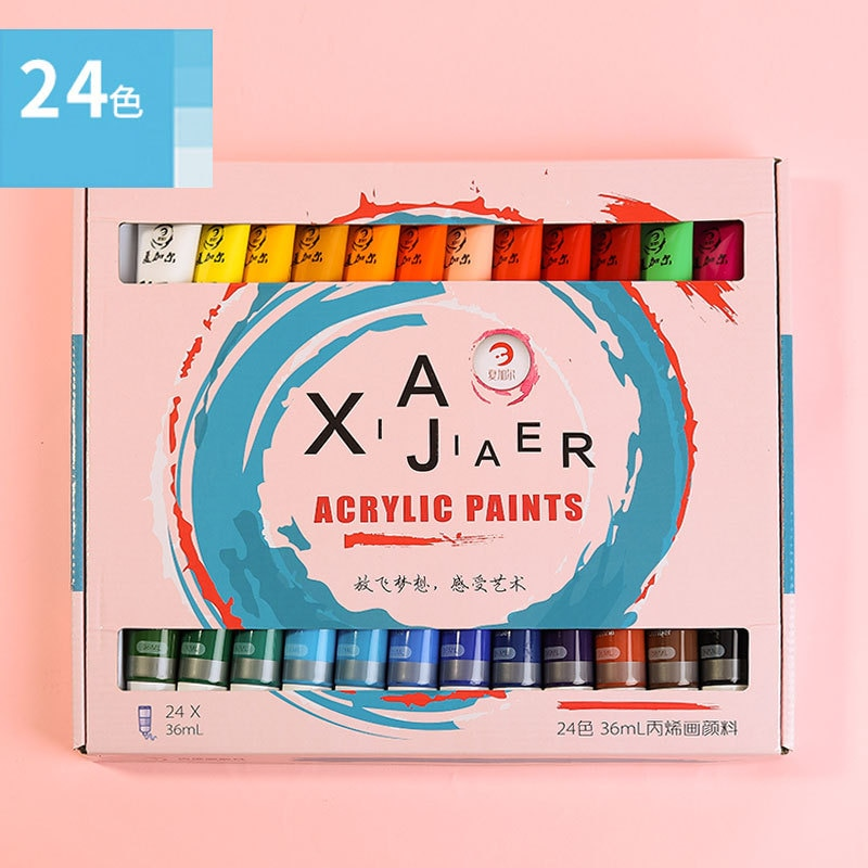12/18/24 Colors 36ML Tube Professional Acrylic Paint Set For Fabric Clothing Nail Glass Drawing Painting For Kids Art Supplies enlarge
