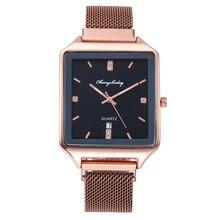 2020 Fashion Casual Women Watches Luxury Alloy Belt Ladies Wristwatch Clock for Women Rose Gold Quartz Watch relogio feminino