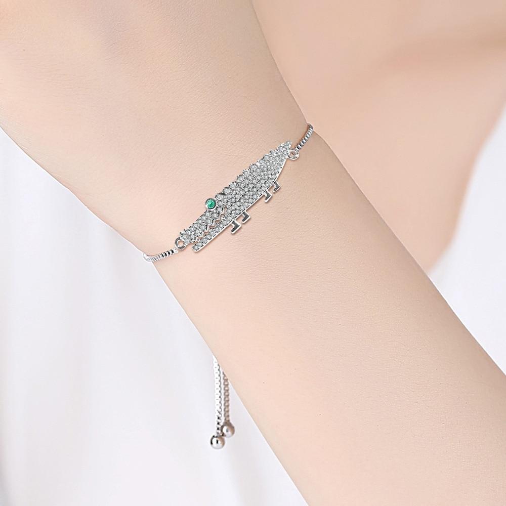 Fashion and Luxury Bracelet for Women Korean Version of Simple Microinlaid Crocodile Shape Accessories Adjustable Zircon Jewelry