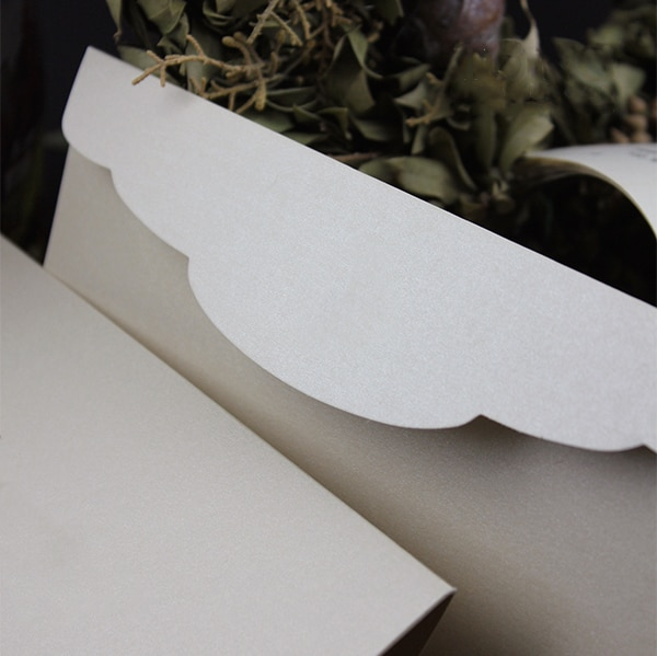 Custom Size Pearl Paper Envelope Wedding Business Invitation Blank Envelope Hot Stamping Color Printing Envelope