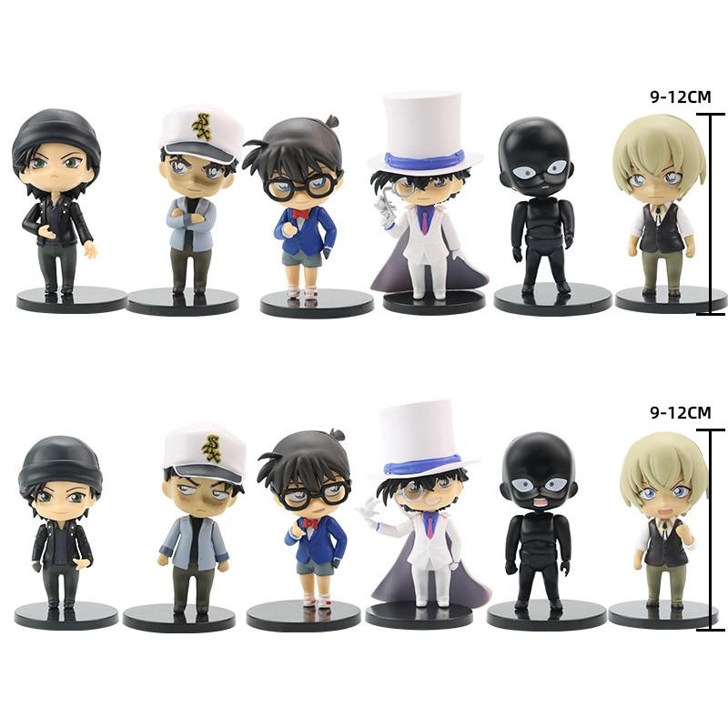 6 Teile/satz Anime Fall Closed Detective Conan Action Figure Sammlung Spielzeug Kudo Shinichi Kid Das Phantom Dieb PVC Modell Puppe geschenk