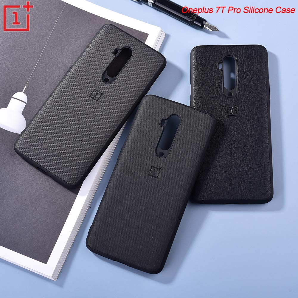 Original Oneplus 7T Pro 8 8pro nord Carbon Fiber Case Leather Skin Hard Cover Shock-Proof Shell For