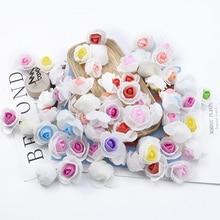 Roses en mousse 50/100/200 pièces 3CM   Décorations de noël pour mariage, liquidation daccessoires de mariée, fleurs artificielles pour cadeau bricolage à la maison