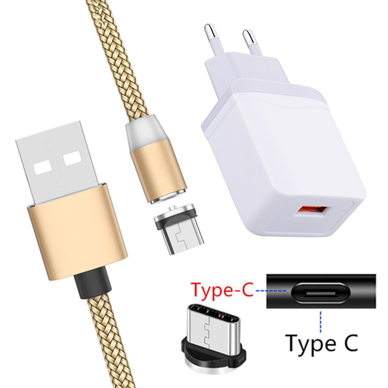 5V 2A Magnetic Type C Fast Charge Cable For Samsung A50 A71 Xiaomi A3 Mi 9 Note 10 Redmi Note 7 Google Pixel 4 Phone USB Charger
