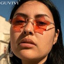 Стимпанк Винтажные Солнцезащитные очки, Женские Звездные зеркальные безободковые солнцезащитные очки, мужские Бескаркасные модные ретро маленькие солнцезащитные очки