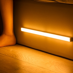 Plutus-Quinn LED Night Light Motion Sensor Wireless USB Rechargeable 20 30 40 50cm Night lamp For Kitchen Cabinet Wardrobe Lamp
