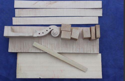 Partes de violín, un juego de material para hacer violín de 4/4 tamaños para luthier