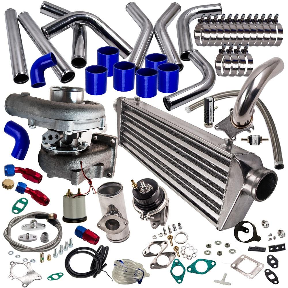 T04e turbo carregador kit + wastegate bov para nissan patrol y60 y61 t3 flange bov adaptador wastegate turbocompressor