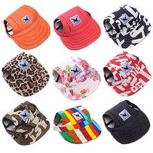 Sombrero perro mascota tapa gorra de béisbol a la moda para perros, gatos, de lona casuales gorro de cachorro para pequeños gorros para perros Chihuahua Yorkshire osito de peluche 8 colores