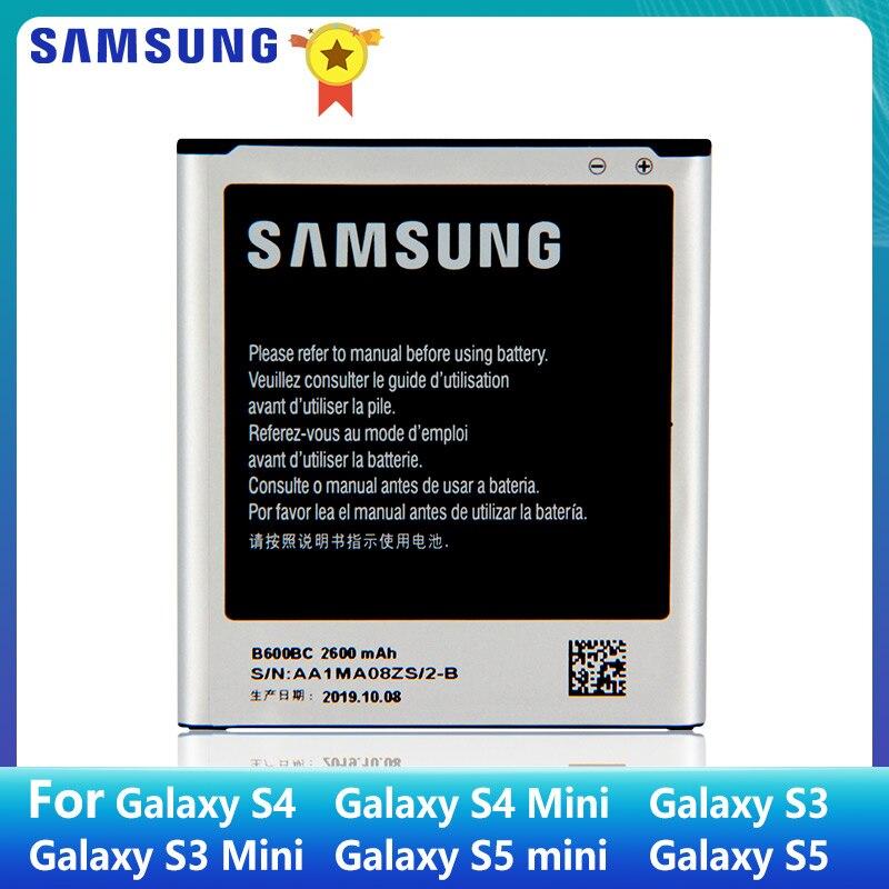 SAMSUNG batería Original B600BC B600BE B600BK B600BU para Samsung GALAXY S4 I9500 S3 S3 MINI B500BE S4 MINI S5 S5MINI EB-BG800CBE