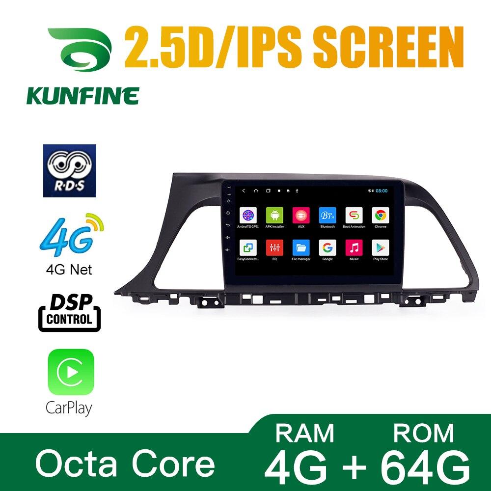 Octa Core 1024*600 Android 8.1 Car DVD GPS Navigation Player Deckless Car Stereo For Hyundai  Sonata 2015-17 Radio Headunit WIFI