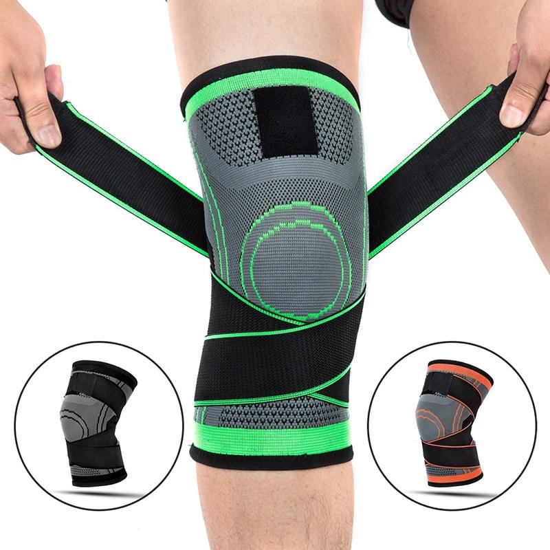 1 шт. нескользящий бандаж на колено, компрессионный нейлоновый наколенник, спортивный наколенник, поддержка колена для бега, баскетбола, фит...