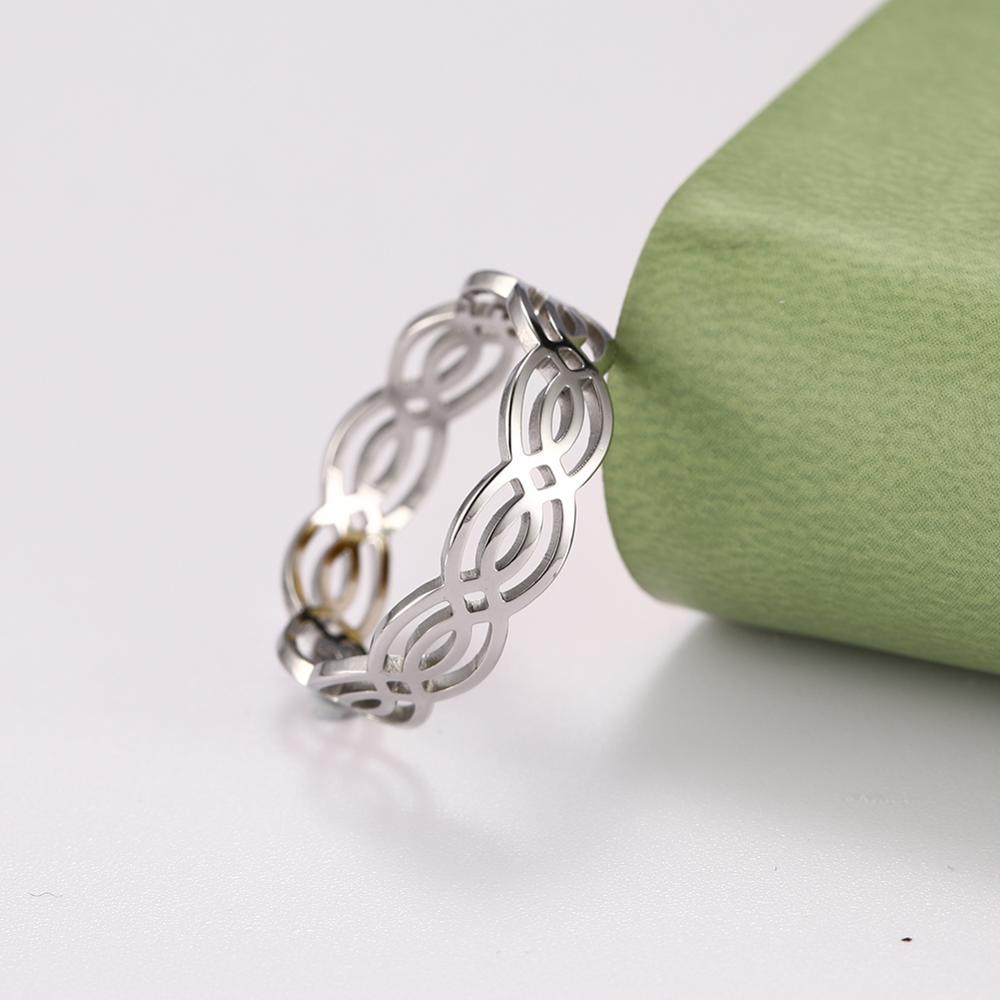 Моя форма Wicca ткань Celtics узел простое кольцо на палец нержавеющая сталь Lucky с модным украшением в виде узла ювелирное изделие, кольца anillos mujer bague homme