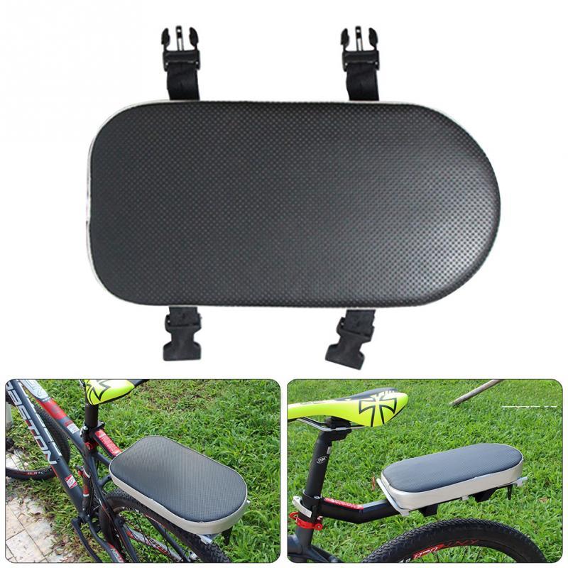 Universal niños asiento hebilla de cuero PU A prueba de golpes accesorios antideslizante suave resistente al desgaste bicicleta cojín trasero Rack #734