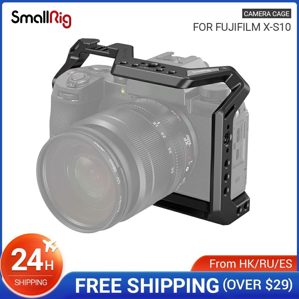 كاميرا صغيرة DSLR هيكل قفصي الشكل للكاميرا الإسكان الباردة حذاء 1/4 ''أري هول للكاميرا فوجي فيلم X-S10 3087