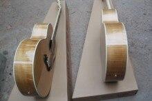 Livraison gratuite guitare naturelle flamme érable côté et dos table en épicéa massif guitare acoustique 5 9 200