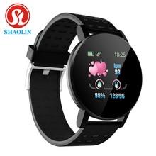 SHAOLIN Bluetooth Smart Watch Men Blood Pressure Smartwatch Women Watches Smart Band Sport Tracker F