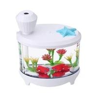 460Ml Aquarium Humidificateur Dair Diffuseur Darome Diffuseur Dhuile Essentielle Arome Aromatherapie Lumiere Led Brumisateur Pour Bureau A Domicile
