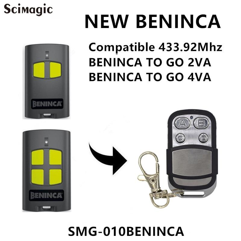 Beninca To. GO2VA/A. GO4VA Avançado de controle remoto da porta da garagem rolling code 433.92MHz transmissor Chave Fob