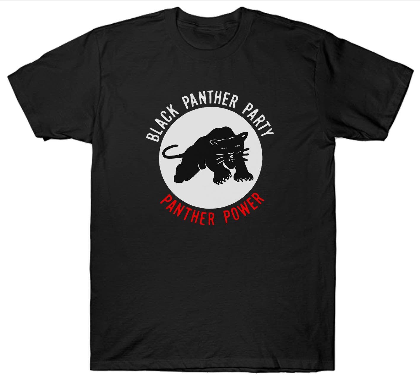 Camiseta del Partido Pantera Negra activista político 1960HUEY P NEWTON venta al por mayor barata tees100 % algodón para la impresión de la camisa ManT