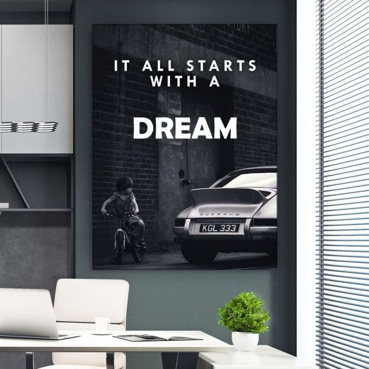 Canvas HD Printed Painting Wall Art Kid Saw A Car Poster Home Decor Inspirational Words Picture Living Room Modular No Framework