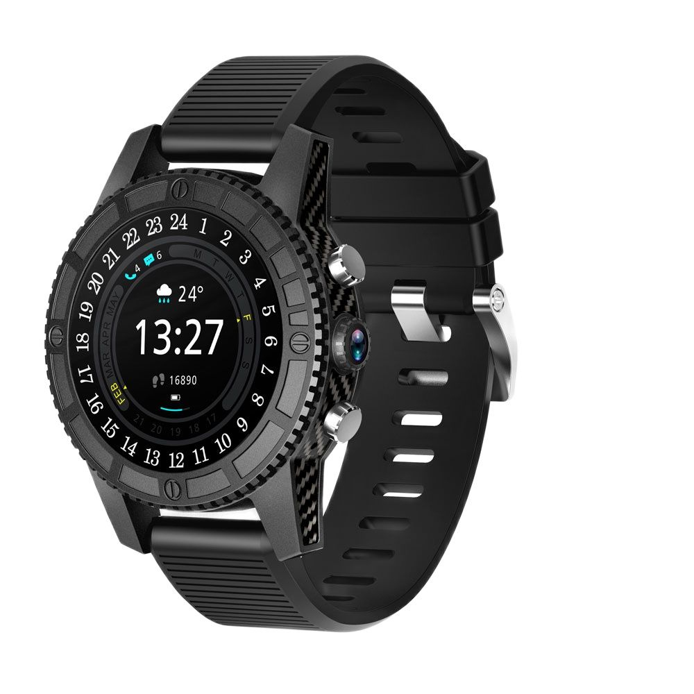 Promo 2021 New 4G LTE Round Smart Watch i7 Android 7.0   Support Wifi Hotspot Bluetooth Smart clock pk apple watch PK kw88