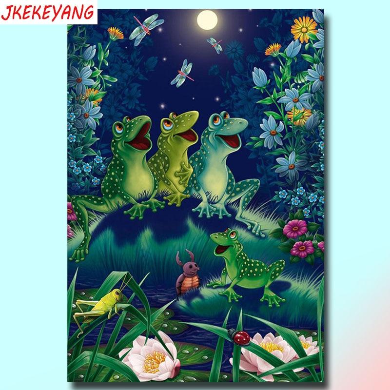 5D DIY square/round Diamond Painting frog Cross Stitch Diamond Embroidery Pattern Rhinestone J2321