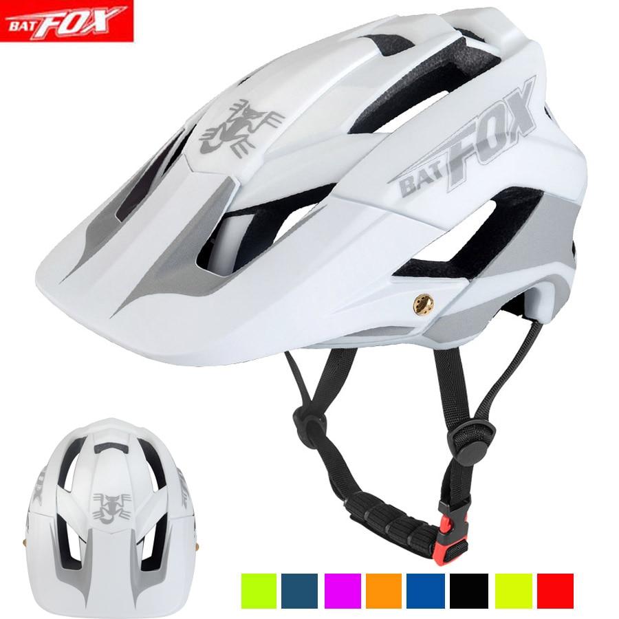 BATFOX-casco de ciclismo reflectante para hombre, ultraligero, moldeado integralmente, L/XL