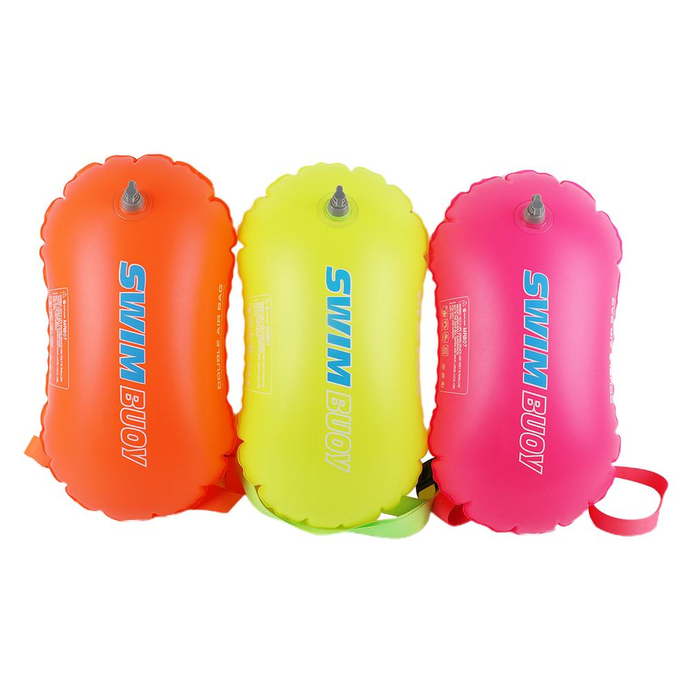 sport double layer water proof arm bag dark blue Swimming Buoy Inflatable Safety Float Bag Double Airbag Swimming Float Air Dry Bag For Water Sport Swimming Accessories