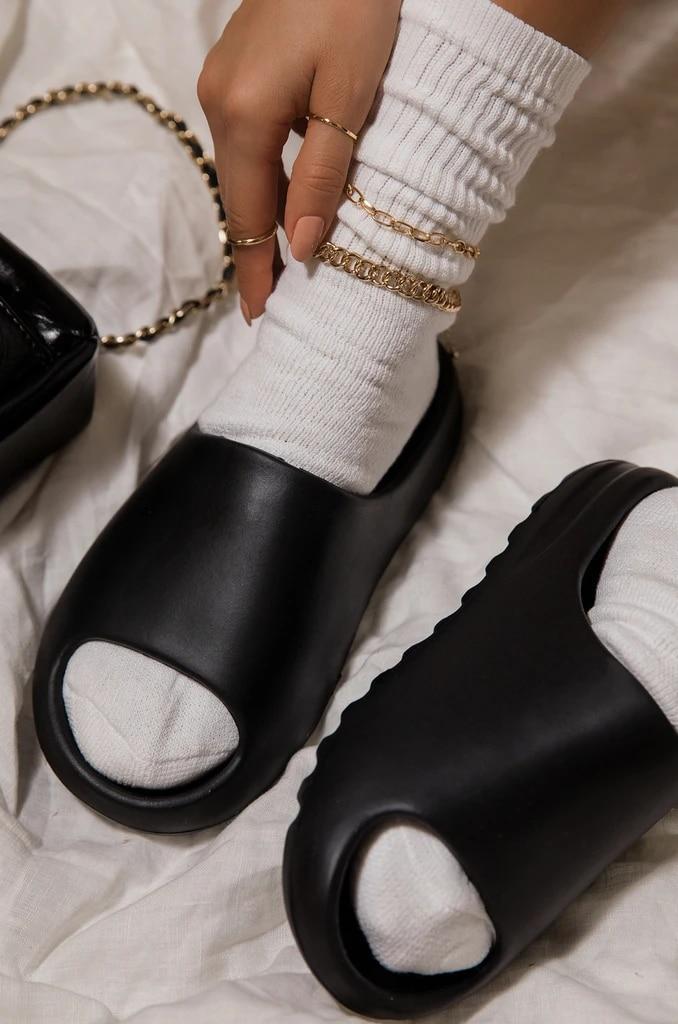 Home Women Thick Bottom Slippers Platform Chunky Heel Living Room Bathroom Slides Non Slip Trend Designer Shoes Ladies Female