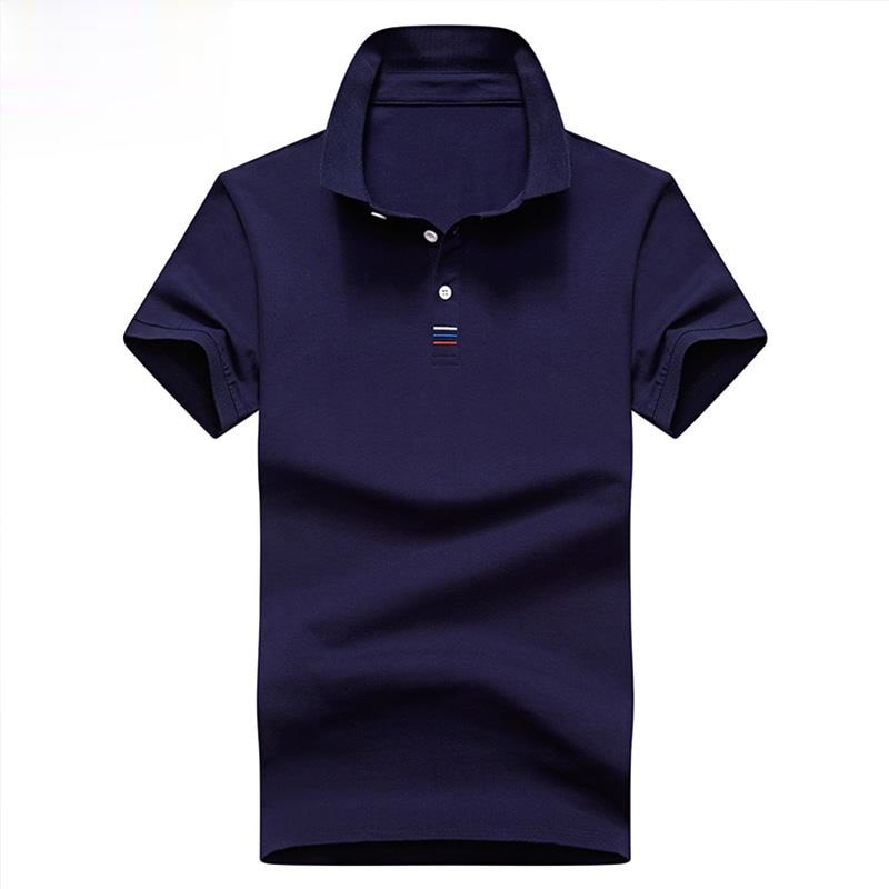 New Men Polo Shirt Mens Solid Polo Shirts Camisa Men Casual 95% Cotton Shirt Homme 4XL Plus Size Bus