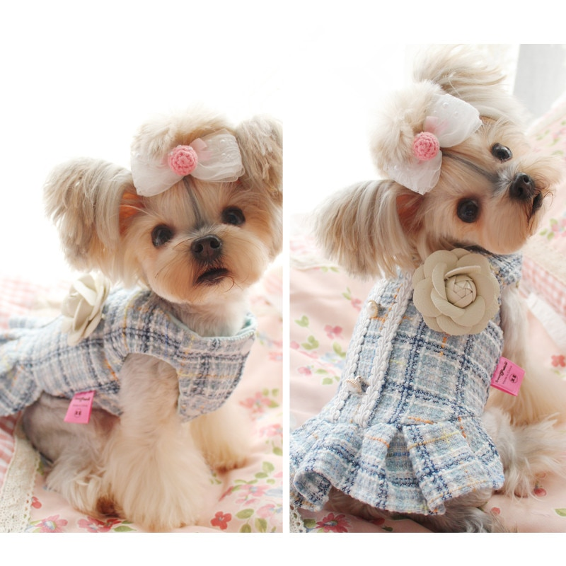 Pet Dog Dress Clothes Winter Cat Clothing Small Dogs Costume Chihuahua Puppy Yorkshire Poodle Bichon Pomeranian Dog Dresses  - buy with discount