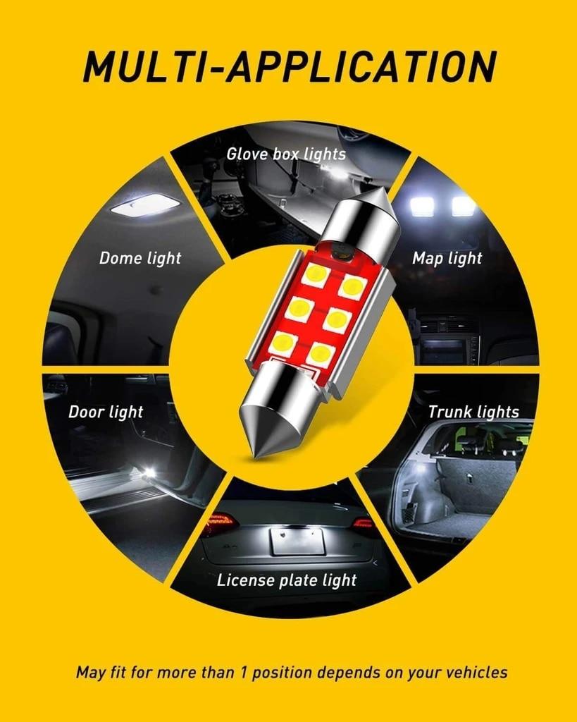 LED Interior Car Lights For Aston Martin Vanquish Interior rear trunk glove box make-up mirror lighting error free