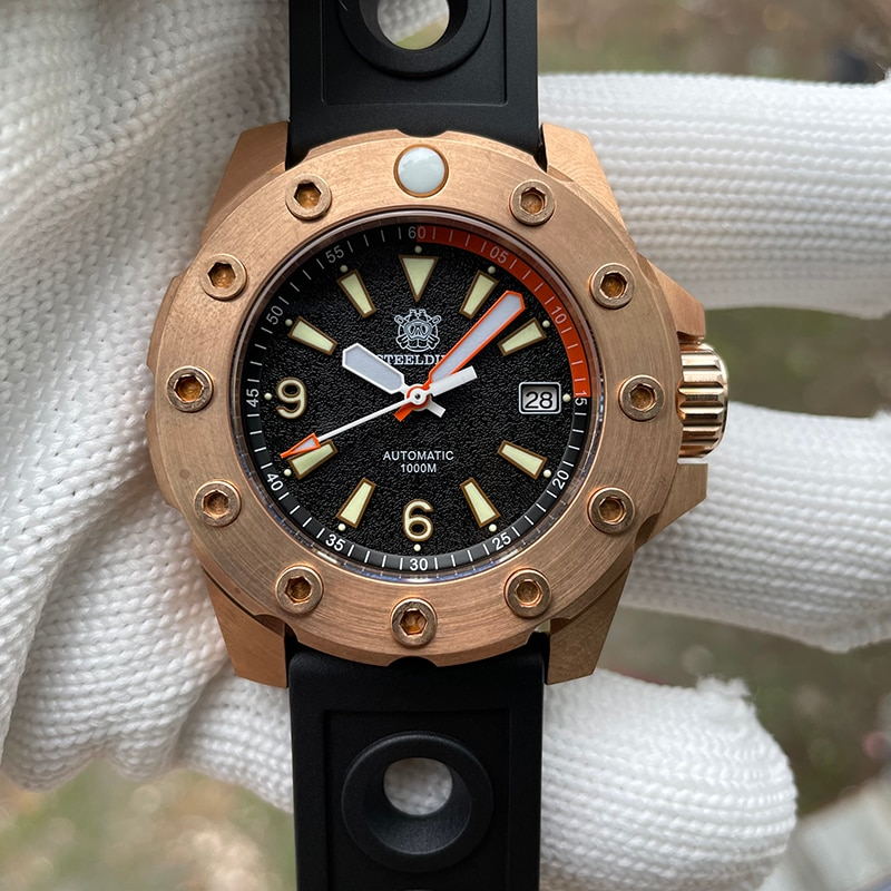 ساعة رجالية من steelالغوص Cusn8 برونزية مقاومة للماء 1000 متر إطار برونزي NH35 ساعة يد ميكانيكية أوتوماتيكية ساعة رجالية 2021
