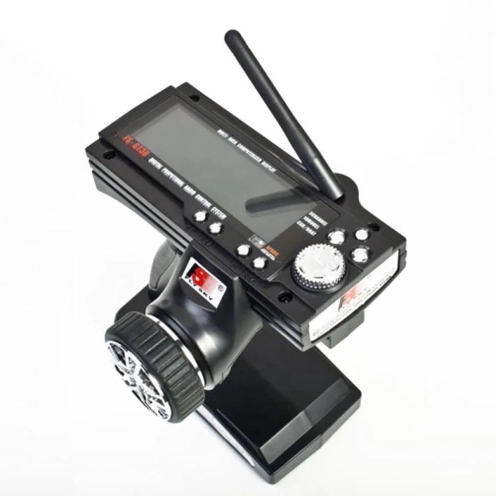 Modelo de radio Flysky FS-GT3B, 2,4G, 3 CANALES, mando a distancia, transmisor y receptor LCD para coche teledirigido, barco