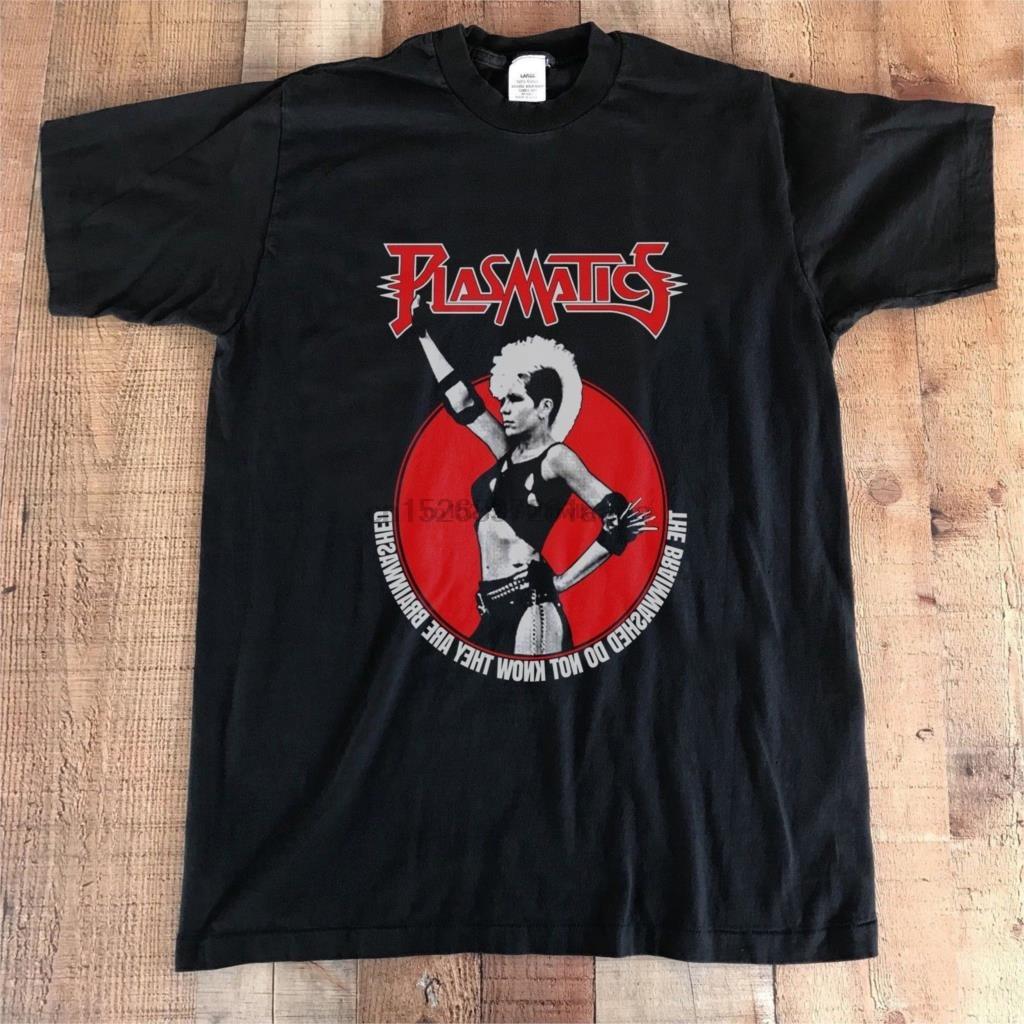Camiseta vintage plasmatics revolucionário rock n rolo 1984 novo s 2xl